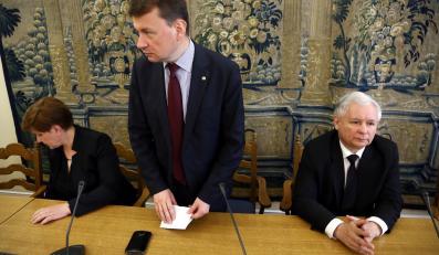 Beata Szydło, Mariusz Błaszczak i Jarosław Kaczyński