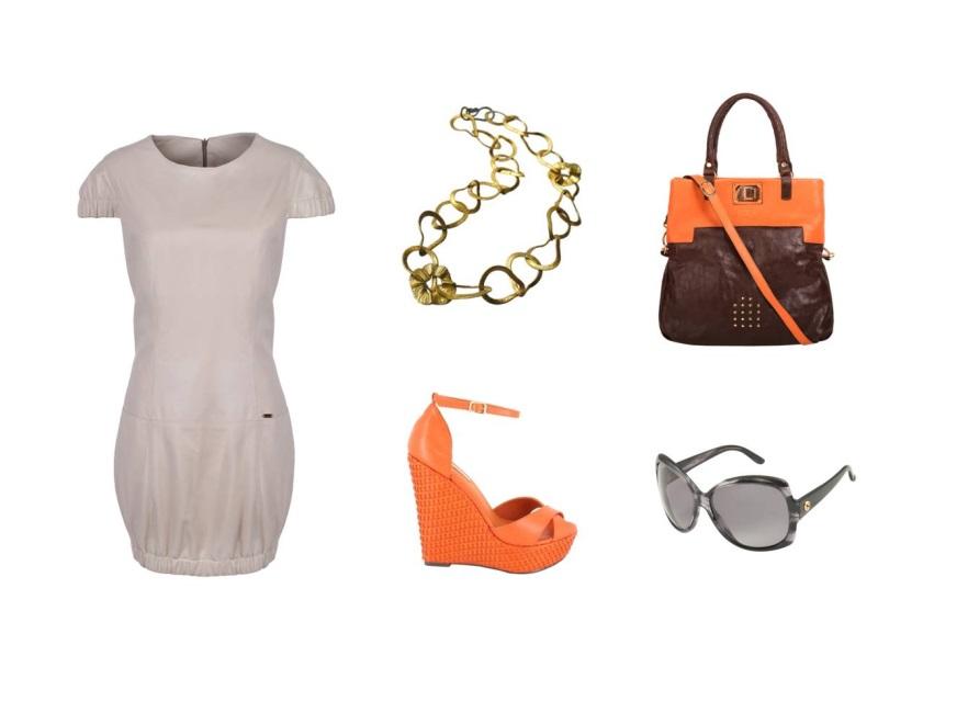 Beżowa sukienka w roli głównej - STYLIZACJE na lato 2014moda; moda wiosna/lato 2014; styl; modne sukienki lato 2014