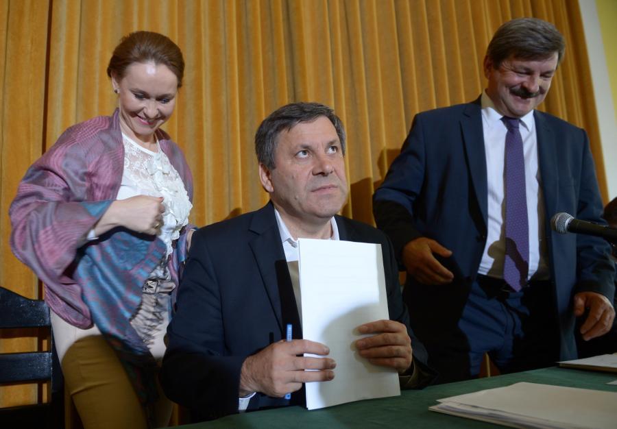 Rada Naczelna PSL, w środku Janusz Piechociński