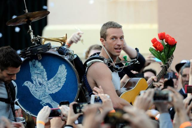 "Coldplay na planie klipu do ""A Sky Full Of Stars"""