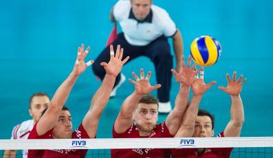 Polscy siatkarze w meczu z Brazylią