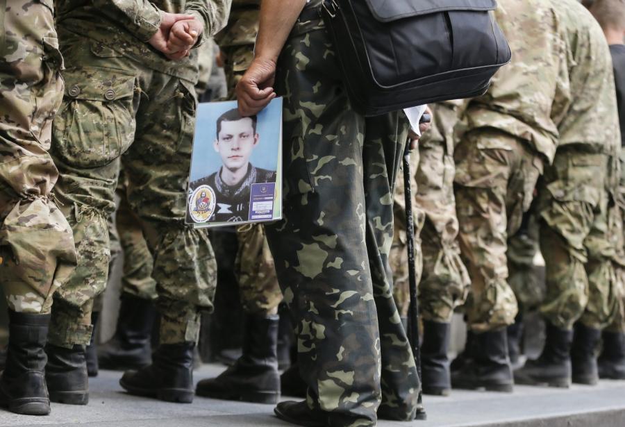 Potret zaginionego podczas wydarzeń na Ukrainie mężczyzny