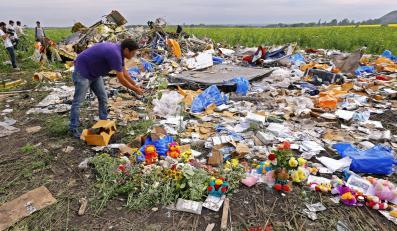 Miesjce katastrofy Malaysia Airlines MH17