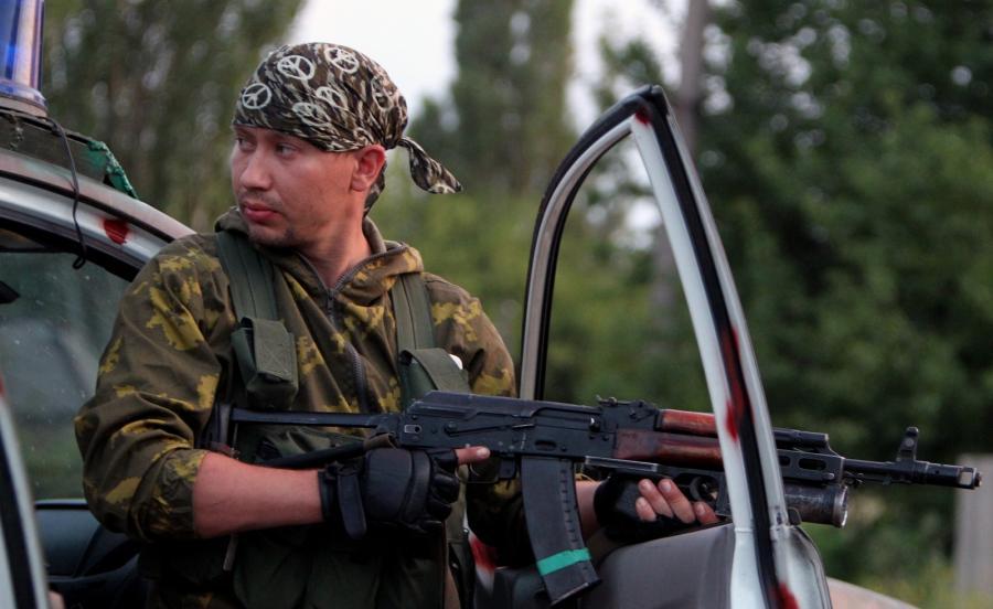 Prorosyjski separatysta na Ukrainie