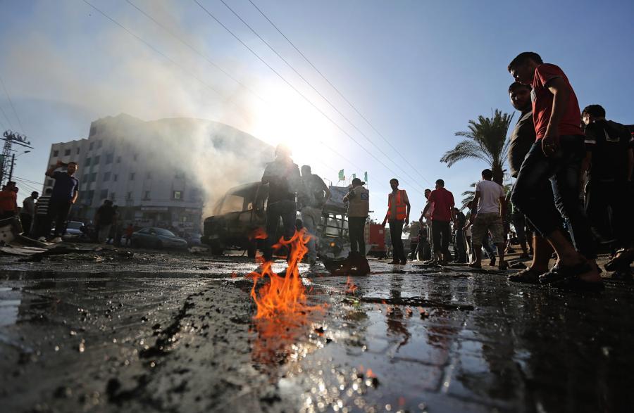 Gaza: autobus spalony na skutek izraelskiego ataku