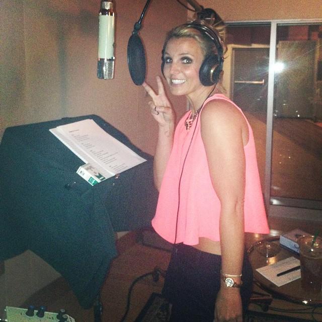 Britney Spears w studiu