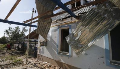 Zniszczony hotel w Mariupolu