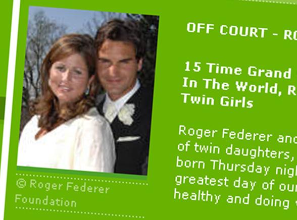 Federerowi urodziły się bliźniaczki