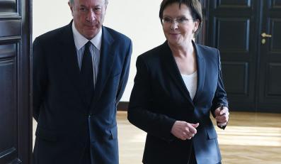 Jacek Rostowski i Ewa Kopacz