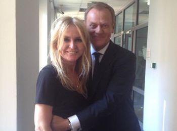 Monika Olejnik i Donald Tusk / zdjęcie z profilu dziennikarki