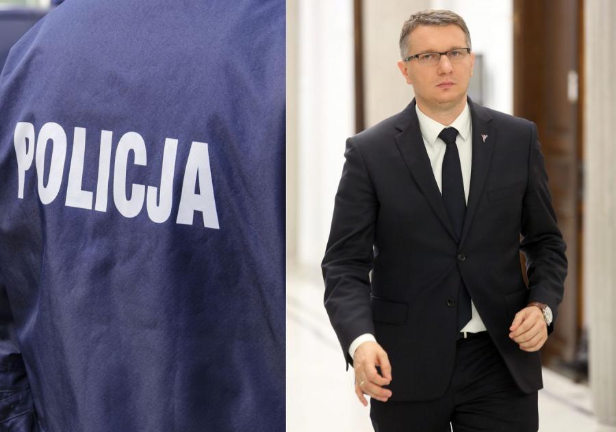 Policja i poseł Przemysław Wipler