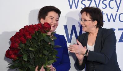 Hanna Gronkiewicz-Waltz i Ewa Kopacz