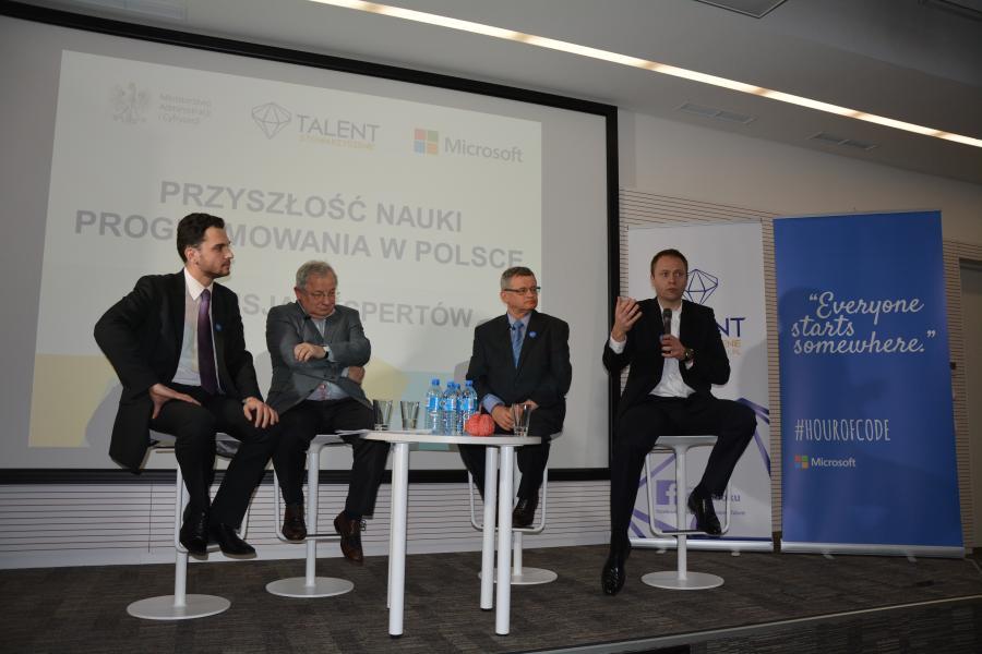Akademia Programowania: panel dyskusyjny - Tomasz Napiórkowski, Maciej Sysło, Ryszard Szubartowski, Rafał Albin