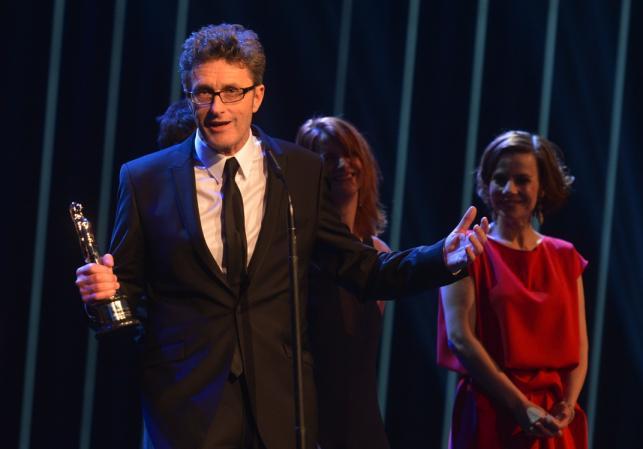 Paweł Pawlikowski na gali Europejskich Nagród Filmowych w Rydze