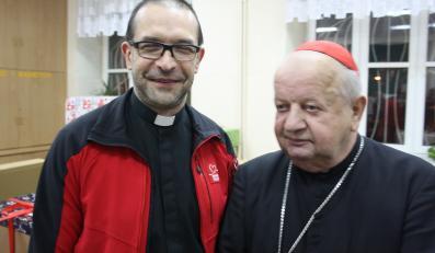 Ks. Jacek Stryczek i kardynał Stanisław Dziwisz