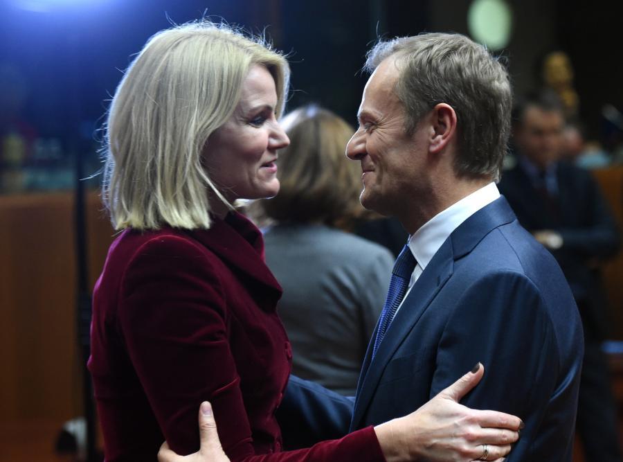 Przewodniczący Rady Europejskiej Donald Tusk oraz premier Danii Helle Thorning-Schmidt