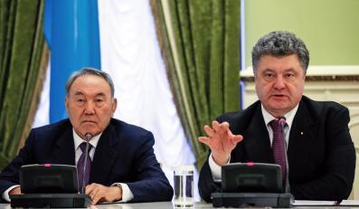 Petro Poroszenko i Nursułtan Nazarbajew