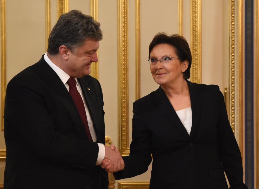 Ewa Kopacz i Petro Poroszenko