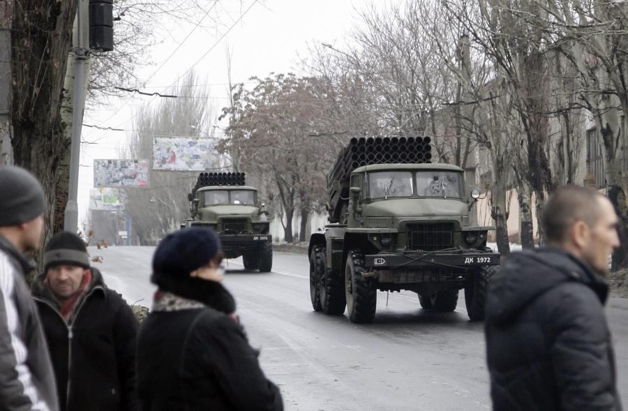 Grady separatystów jadą na front