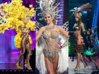 Półnagie kandydatki do tytułu Miss Universe 2015 w strojach narodowych