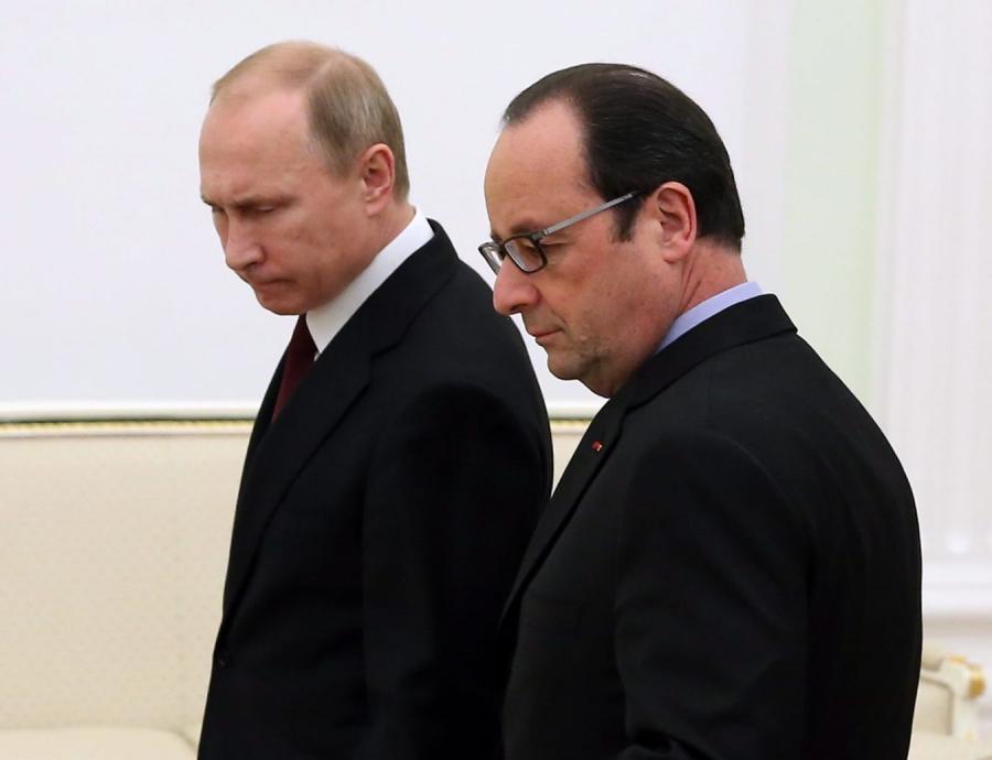 Władimir Putin i Francoise Hollande