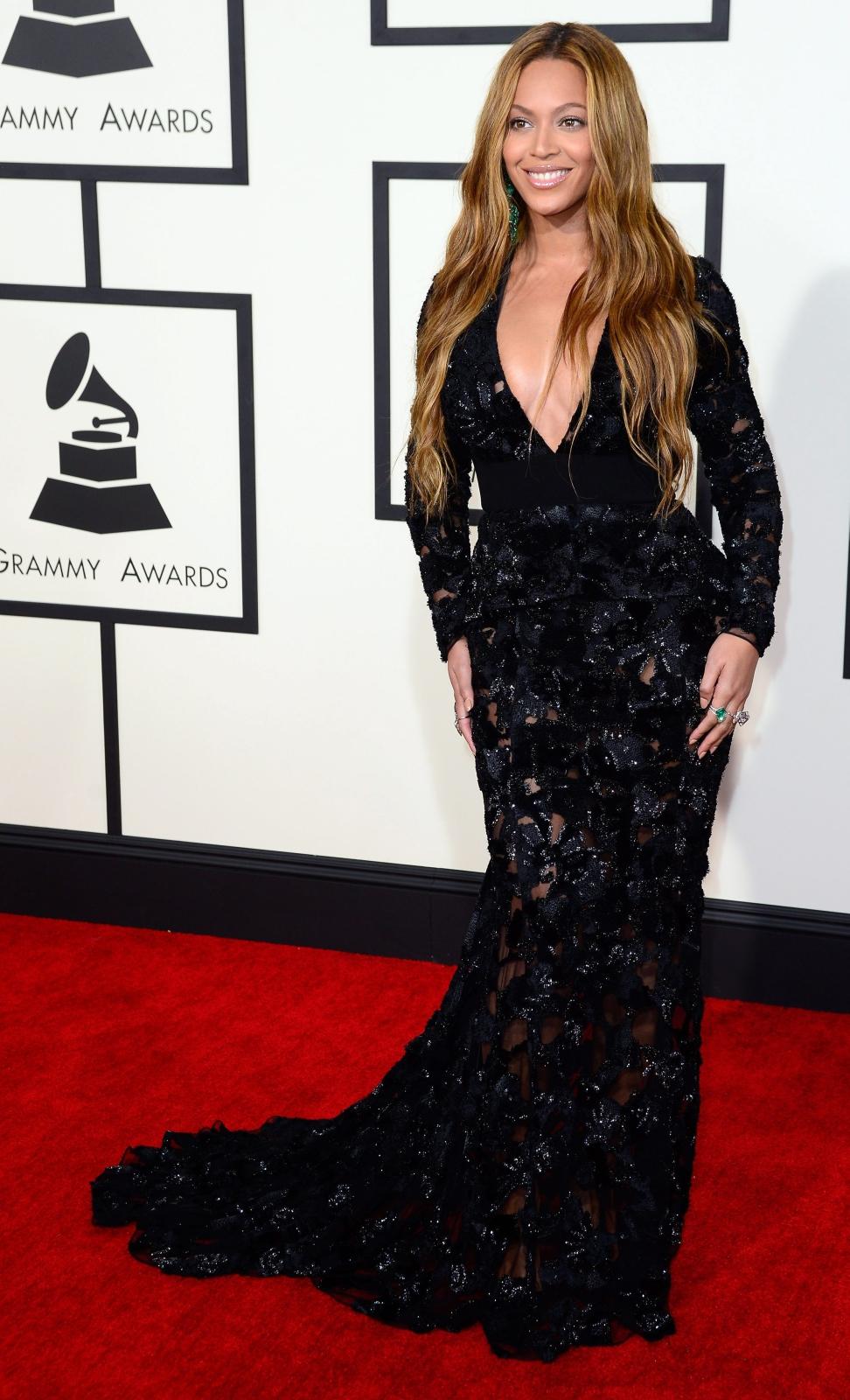 Najbardziej rozebrane gwiazdy na gali Grammy 2015: Beyoncé