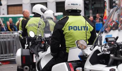 Dania, Kopenhaga. Policjanci na motocyklach