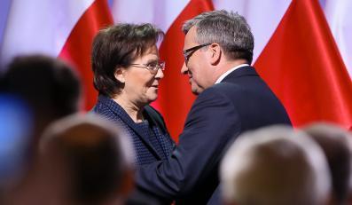 Bronisław Komorowski i Ewa Kopacz