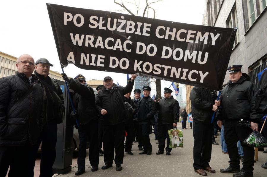 Manifestacja kolejarzy