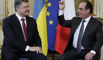 Francois Hollande i Petro Poroshenko