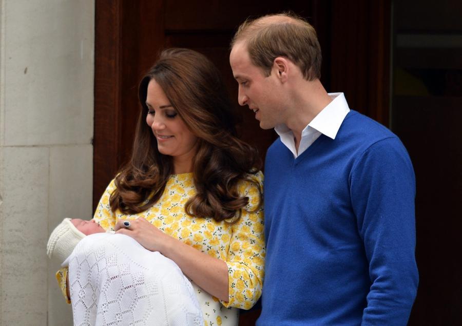 Księżniczka Charlotte z rodzicami