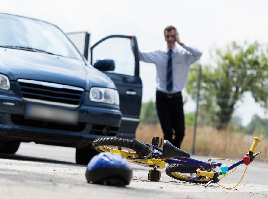 Wypadek drogowy z udziałem dziecka