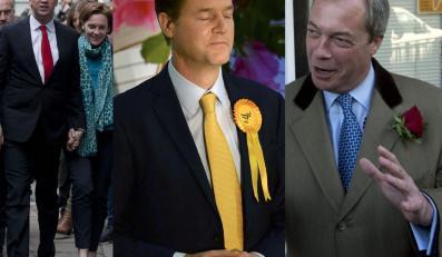 Ed Mliband, Nick Clegg, Nigel Farage