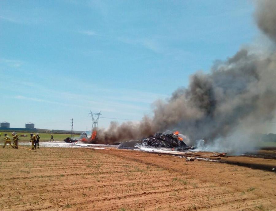 Katastrofa samolotu w Hiszpanii