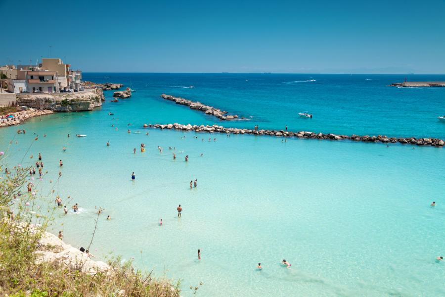 Plaża w Otranto, Włochy