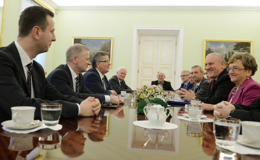 Spotkanie Bronisława Komorowskiego z OPZZ i ZNP