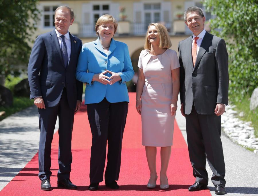 Donald Tusk z żoną na szczycie G7