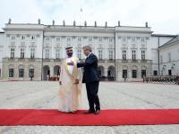 Emir przyjechał do Komorowskiego. Spotka się również z Dudą. ZDJĘCIA