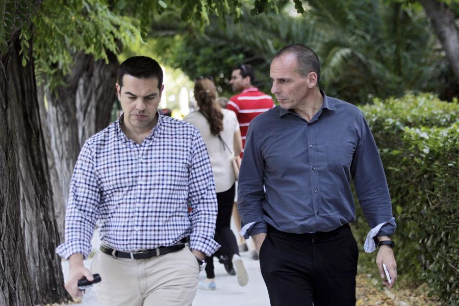 Grecki premier Alexis Tsipras i minister finansów Yanis Varoufakis
