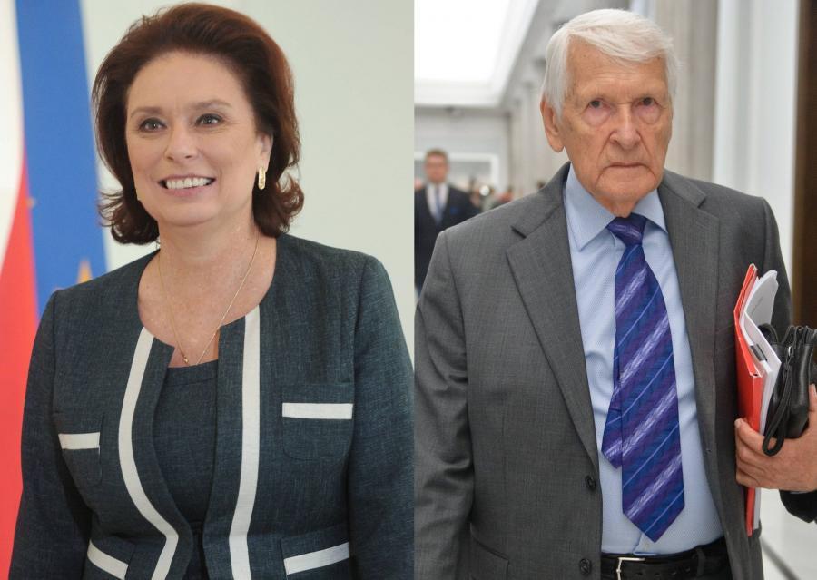Małgrzata Kidawa-Błońska i Józef Zych