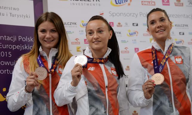 Piękne polskie sportsmenki wróciły z medalami z Baku. ZDJĘCIA