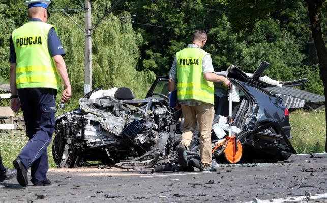 Wypadek na zakopiance w Białym Dunajcu