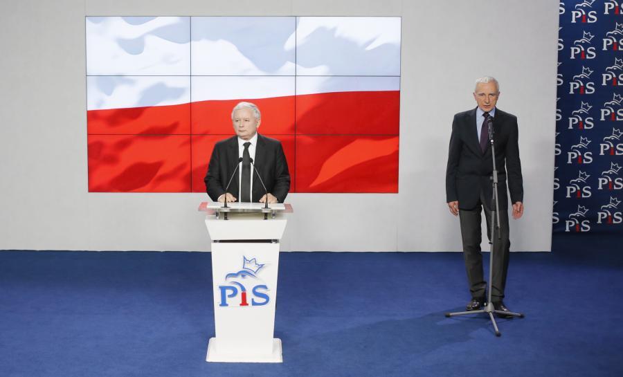 Jarosław Kaczyński i Piotr Naimski