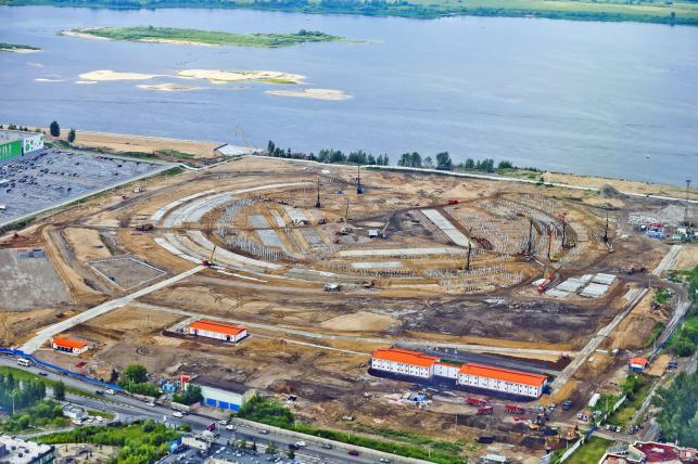 Budowa stadionu w Niżnym Nowgorodzie