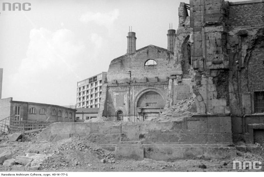 Ruiny Banku Polskiego w Warszawie po II wojnie światowej