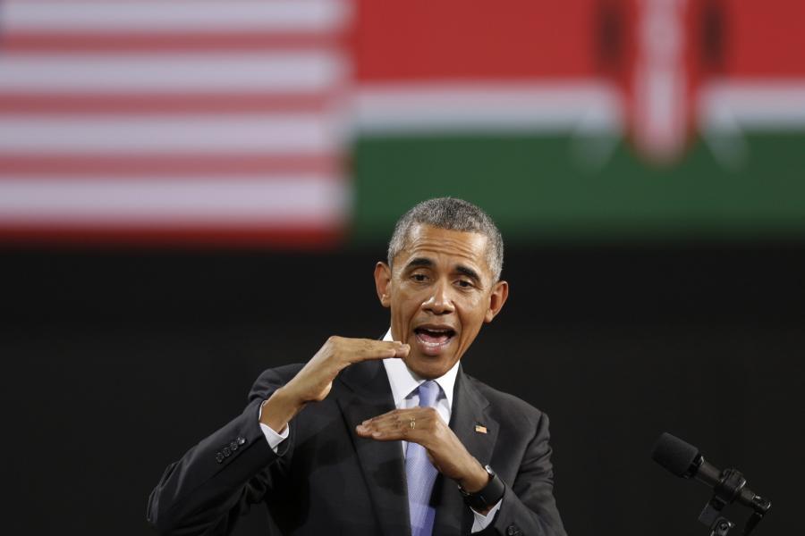 Barack Obama przemawia w stolicy Kenii, Nairobi
