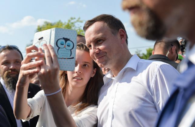 Każdy chciał mieć zdjęcie z prezydentem