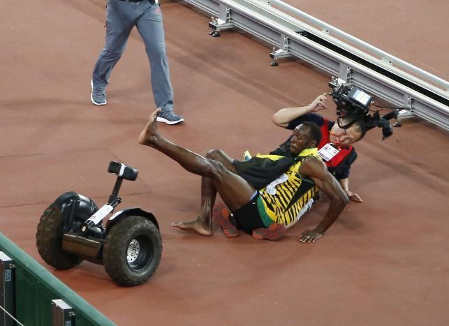 Kamerzysta rozjechał Usaina Bolta