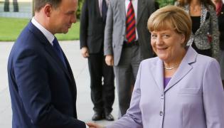 Prezydent Andrzej Duda i kanclerz Niemiec Angela Merkel