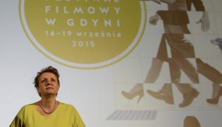 Minister Małgorzata Omilanowska podczas konferencji prasowej 40. Festiwalu Filmowego w Gdyni